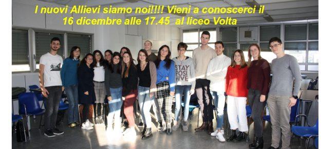 La serata degli Allievi della Scuola di Como - 16 dicembre alle 17.45 presso il Liceo Volta